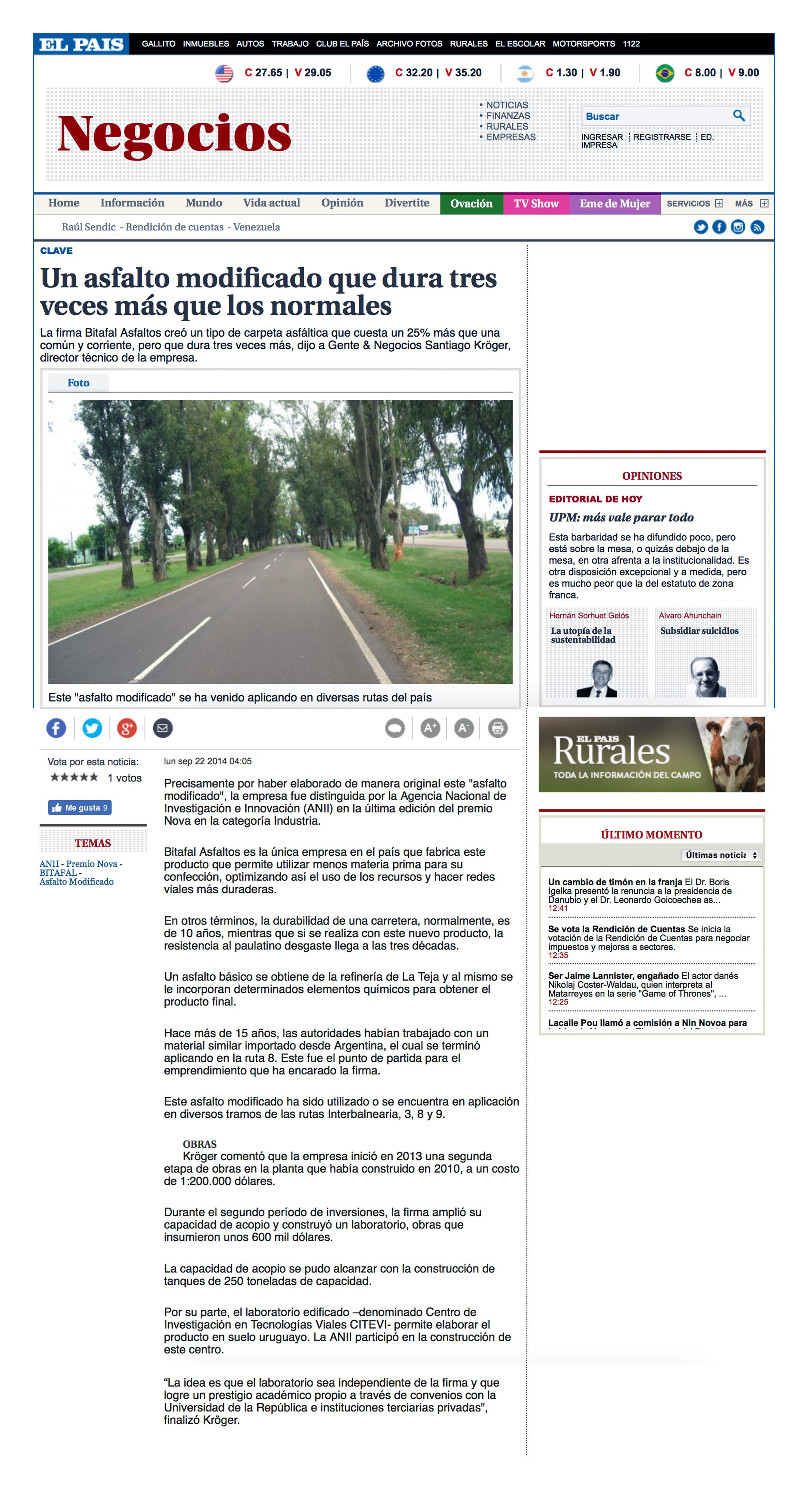 Un asfalto modificado que dura tres veces más que los normales