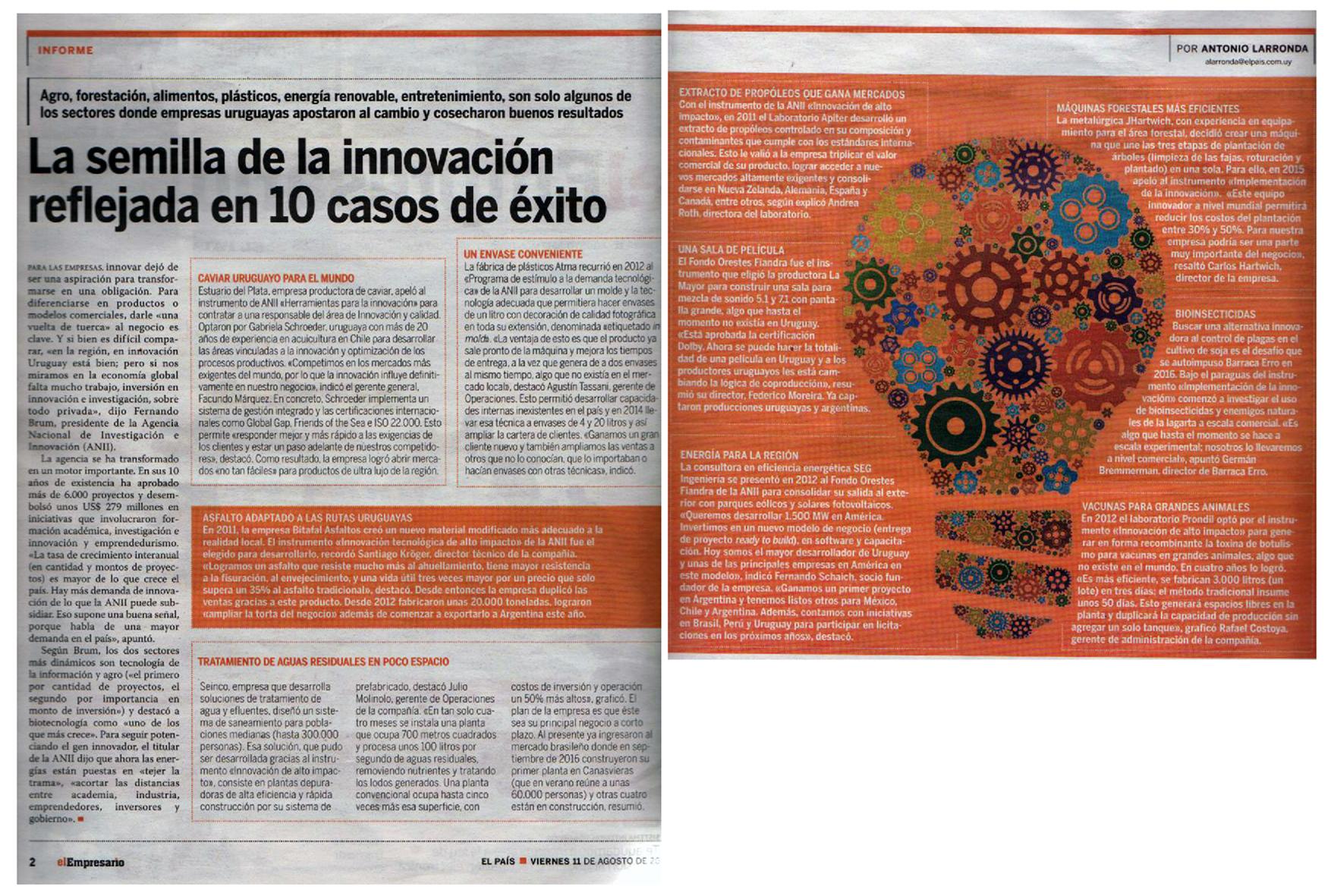 La semilla de la innovación reflejada en 10 casos de éxito
