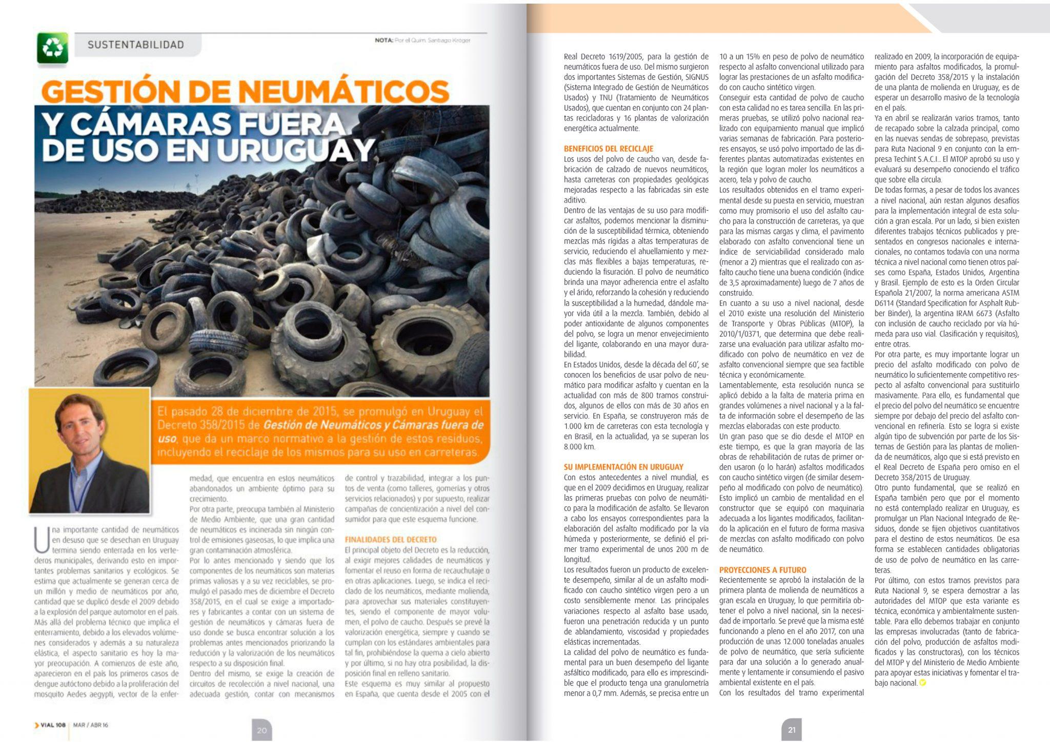 Gestión de neumáticos y cámaras fuera de uso en Uruguay