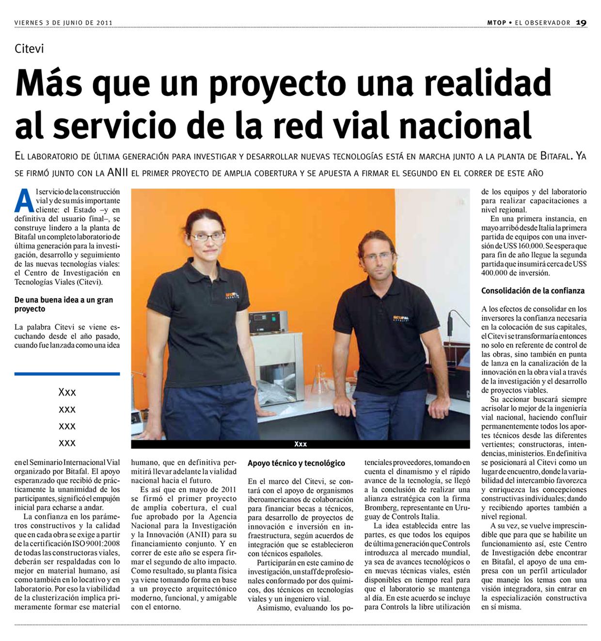 Más que un proyecto una realidad al servicio de la red vial nacional