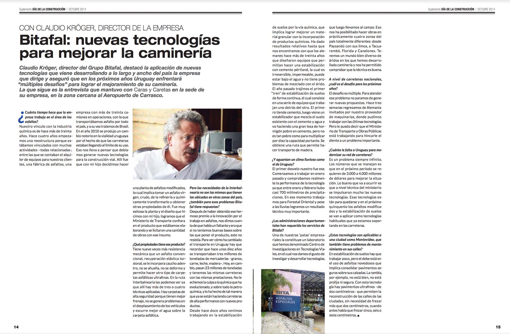 Bitafal: nuevas tecnologías para mejorar la camineria