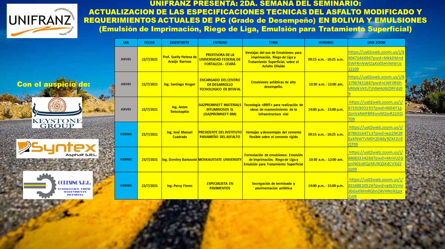 SEMINARIO DE ACTUALIZACION PARA LA ABC (BOLIVIA)
